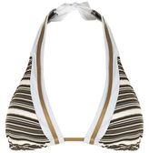 Gottex Metallic Stripe Halter Neck Bikini Top