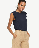 Ann Taylor Pleated Sleeveless Top
