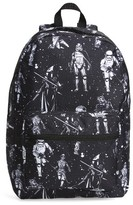 Star Wars Boy's The Force Awakens Black & White Space Backpack - Black