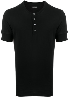 Tom Ford Short-Sleeved Henley T-Shirt