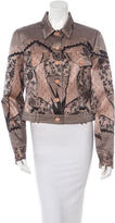 Christian Dior Lace Print Satin Jacket