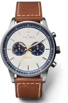 Triwa Ocean Nevil Men's Chrono Watch Brown Leather Strap NEST113 SC010215