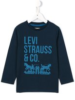 Levi's Kids logo print long sleeve T-shirt