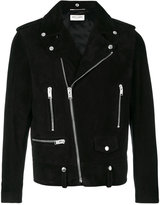Saint Laurent Classic suede motorcycle jacket - men - Cotton/Goat Skin/Polyester/Cupro - 46