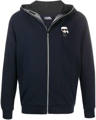 Karl Lagerfeld Paris K/Ikonic zipped hoodie