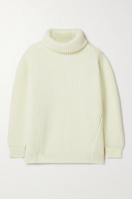 &Daughter + Net Sustain Inver Ribbed Merino Wool-blend Turtleneck Sweater - Cream