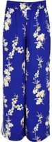 River Island Girls Blue floral print palazzo trousers