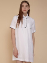 LINE POINT dress WHITE