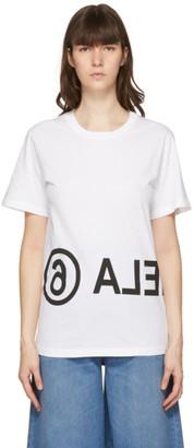 MM6 MAISON MARGIELA White Reversed Logo T-Shirt
