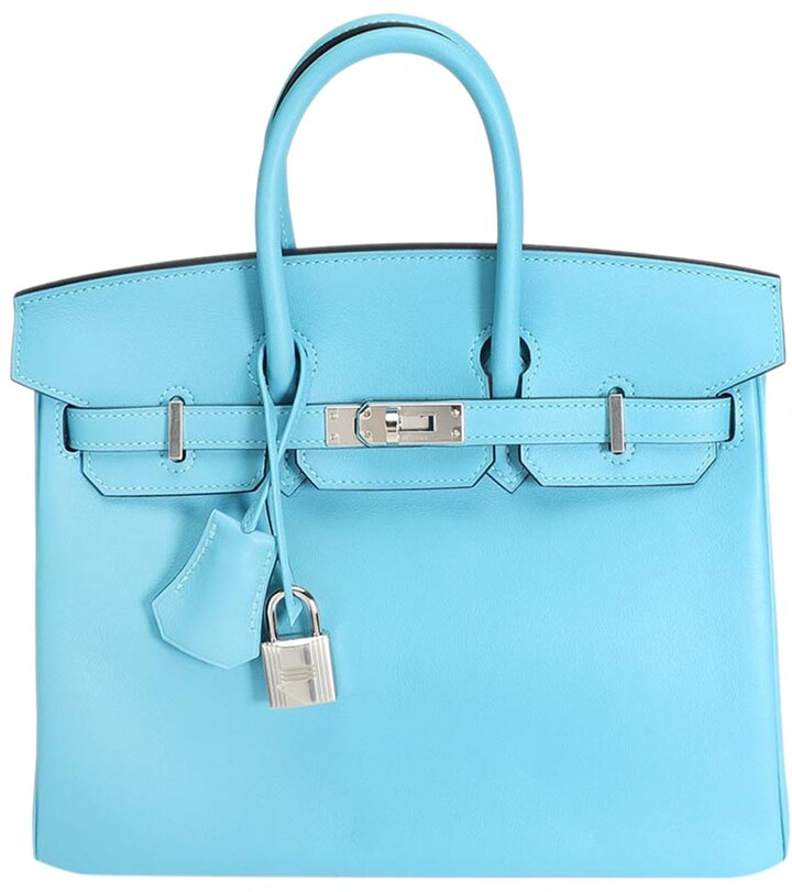 Hermes Bleu Du Nord Swift Leather Palladium Hardware Birkin 25 Bag