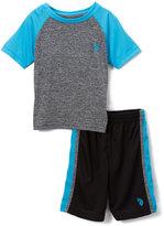 U.S. Polo Assn. Turquoise & Gray Tee & Mesh Shorts Set - Toddler & Boys