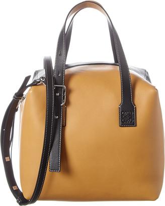 Loewe Cube Top Handle Leather Shoulder Bag