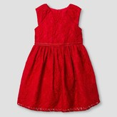 Toddler Girls' Lace Dress Red Pop 3T - Mia and Mimi
