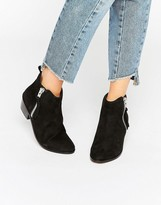 Carvela Side Zip Leather Ankle Boots