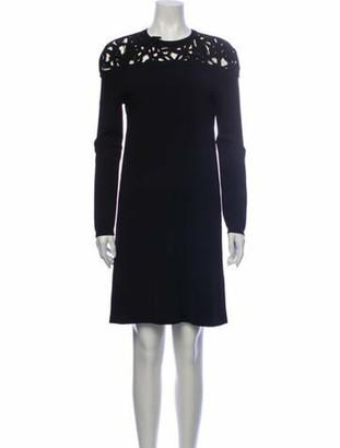 Valentino Crew Neck Knee-Length Dress Black