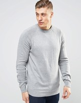 Bellfield Fine Gauge Knitted Sweater With Elbow Patches