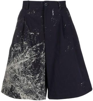 Maison Margiela abstract print wide-leg bermuda shorts