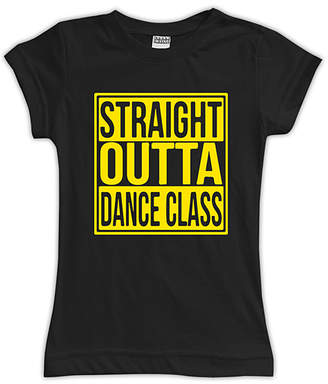 Urban Smalls Girls' Tee Shirts Black - Black 'Straight Outta Dance Class' Fitted Tee - Toddler & Girls