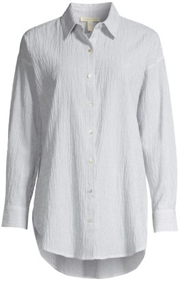 Eileen Fisher Textured Longline Shirt