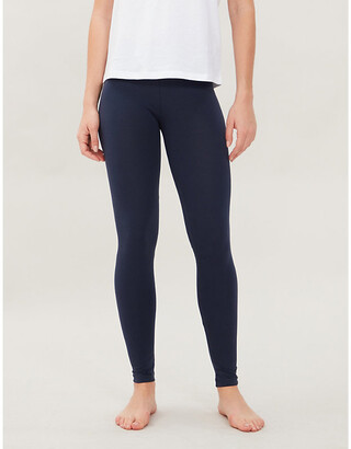 Tommy Hilfiger Branded-embroidery cotton-blend jersey leggings