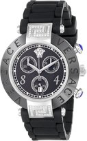 Versace Women's 92CCS91D008 S009 Reve Ceramic Stainless-steel Chronograph Rubber Watch
