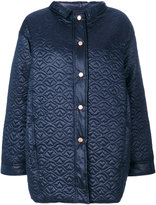 See by Chloe quilted sheen coat - women - Nylon/Polyester - 38