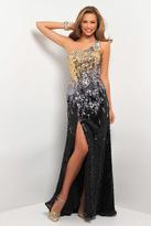 Blush Lingerie Sparkling One Shoulder Long Dress with Slit 9528