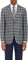 Ermenegildo Zegna Men's Overplaid Wool-Blend Two-Button Sportcoat-LIGHT GREY, DARK GREY, GREY