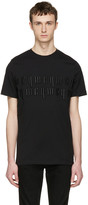 McQ by Alexander McQueen Black Embroidered T-Shirt