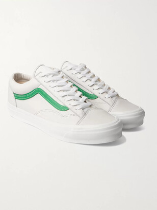 Vans Og Style 36 Lx Canvas-Trimmed Leather Sneakers