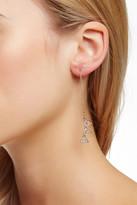Rebecca Minkoff Crystal 3 Triangle Earrings