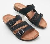 Earth Origins Leather Slide Sandals - Orono Felix