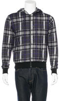 Christopher Kane Plaid Hooded Sweater