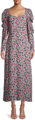 M Missoni Puff-Sleeve Maxi Dress