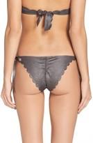 Pilyq Women's Scalloped Reversible Bikini Bottoms