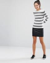 Only PU Mini Skirt