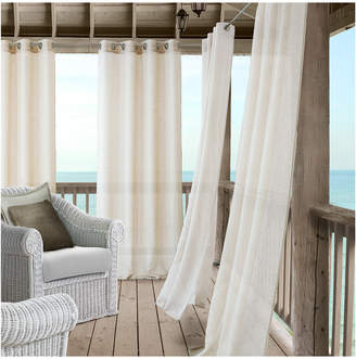 Elrene Bali Sheer Indoor/Outdoor Window Curtain Panel With Tieback