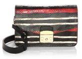 Furla Striped Leather Crossbody Bag
