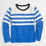 J.Crew Factory Boys' long-sleeve placed-stripe T-shirt