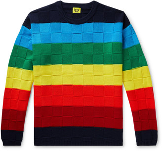 Iggy Striped Cotton-Jacquard Sweater