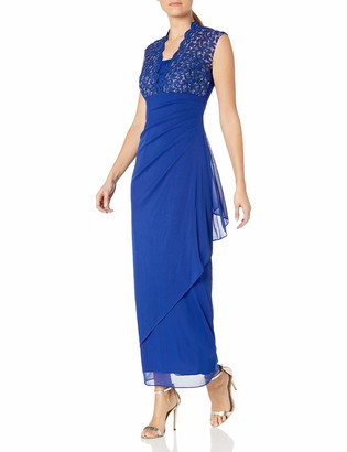 Alex Evenings Women's Empire Waist and Lace Ruched Dress (Petite and Regular)