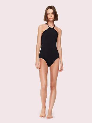 Kate Spade Marina Piccola High Neck One-Piece Swimsuit