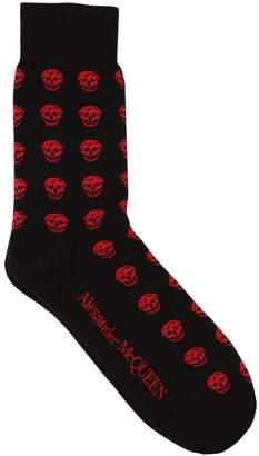 Alexander McQueen Cotton Blend Skull Socks