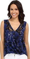 Lucky Brand Women's Printed Floral Sleeveless Top