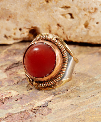 Anju Women's Rings - Red Onyx & Copper Ring