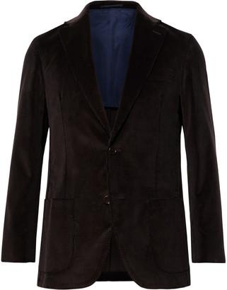 Sid Mashburn Chocolate Kincaid No 1 Cotton-Corduroy Suit Jacket