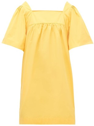Three Graces London Sofia Cotton-poplin Mini Dress - Yellow