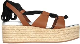 Miu Miu Platform Ribbon Sandals