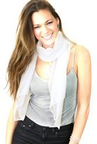 NYFASHION101 Women's Versatile Solid Sheer Chiffon Scarf Headwear - Fuchsia