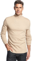 John Ashford Big and Tall Long-Sleeve Mock Neck Solid Interlock Shirt
